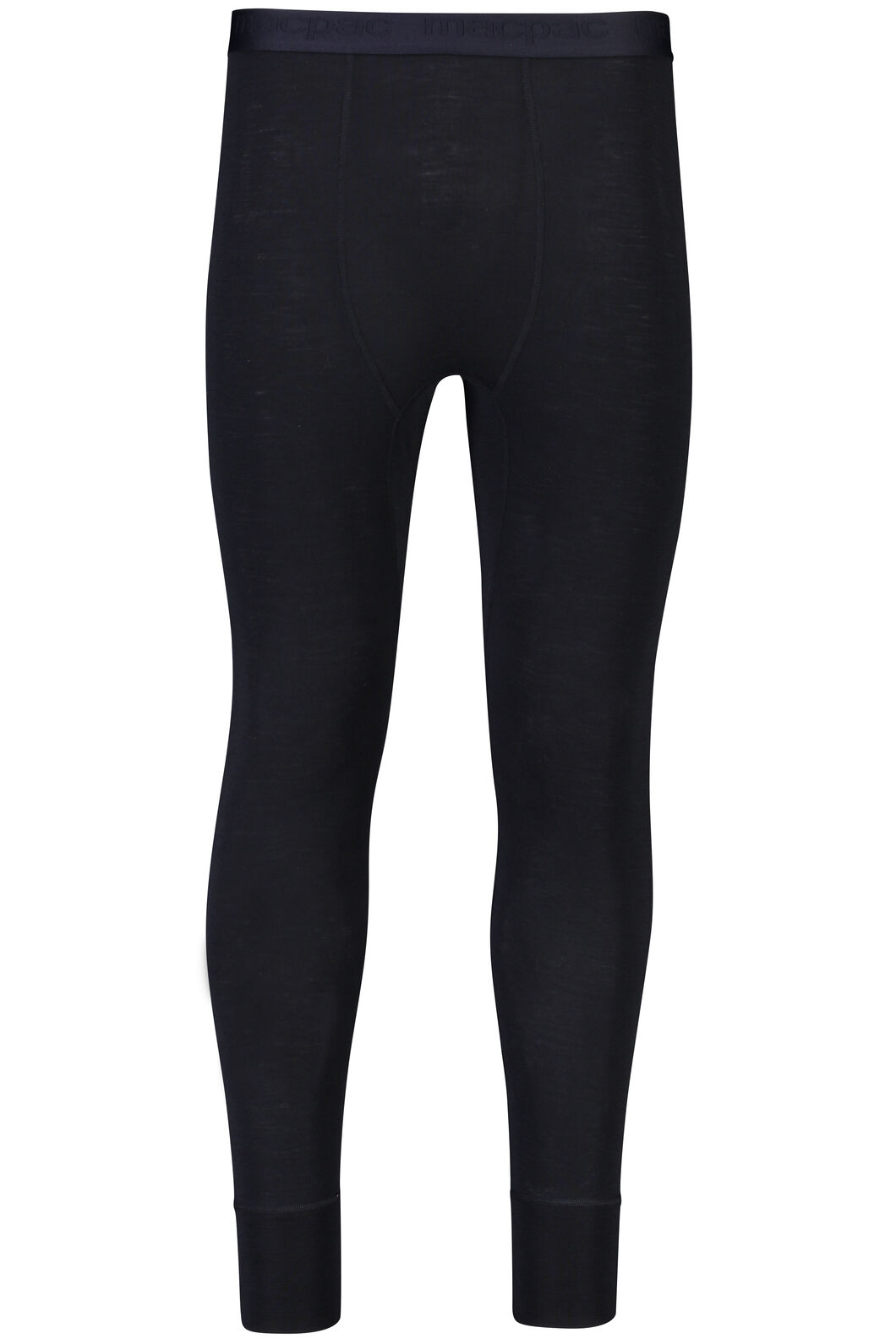 Macpac 220 Merino Long Johns - Men's, Black, hi-res