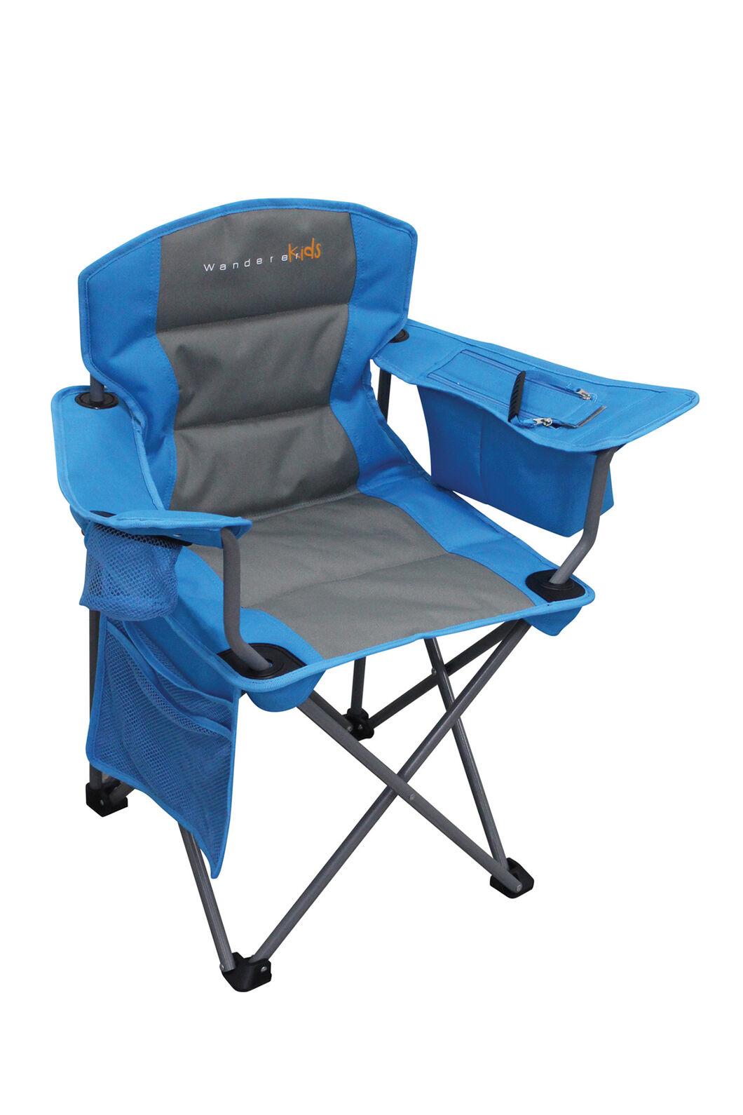 Wanderer Cooler Camping Arm Chair — Kids', Blue, hi-res