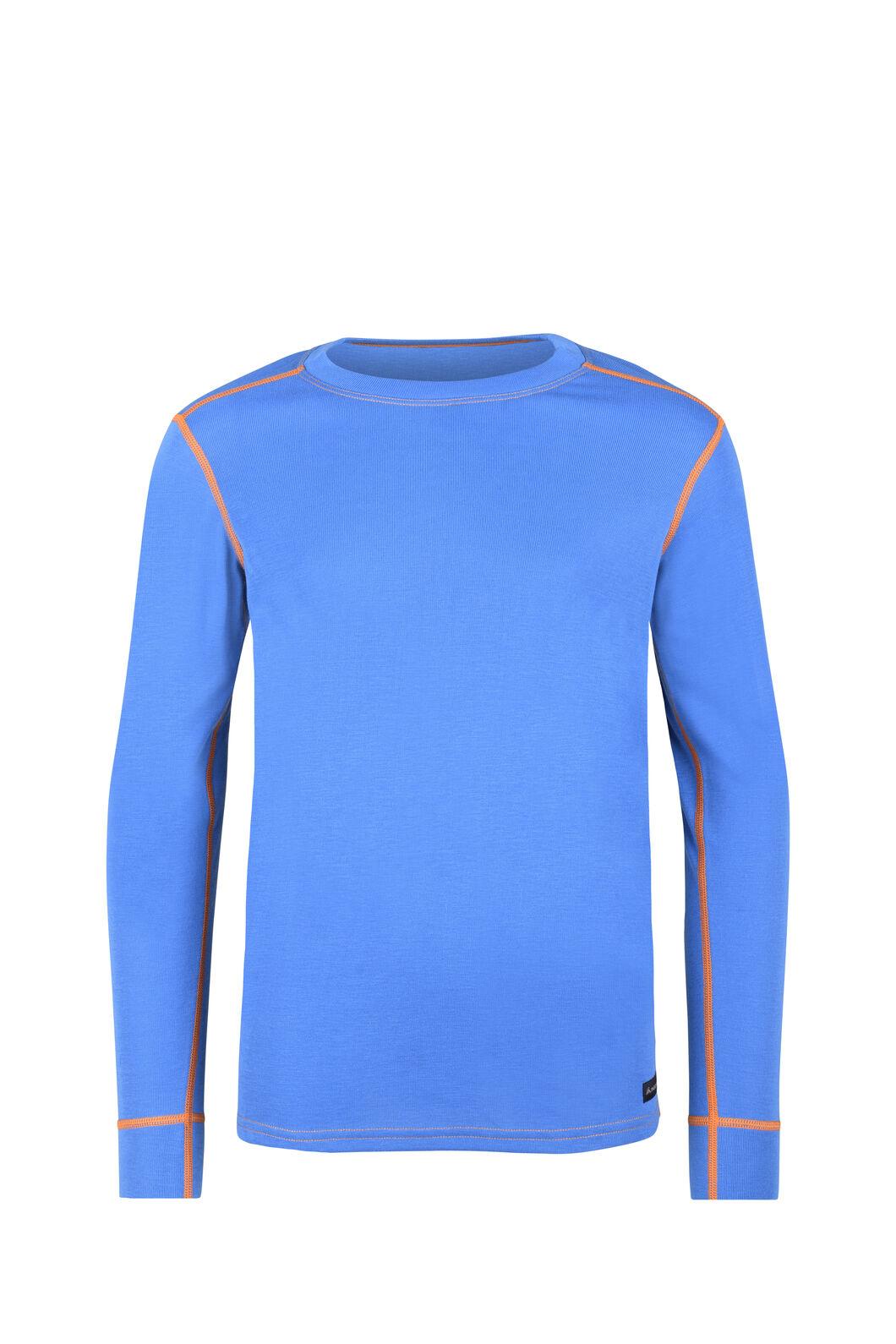 Macpac Geothermal Long Sleeve Top - Kids', Skydiver/Persimmon, hi-res