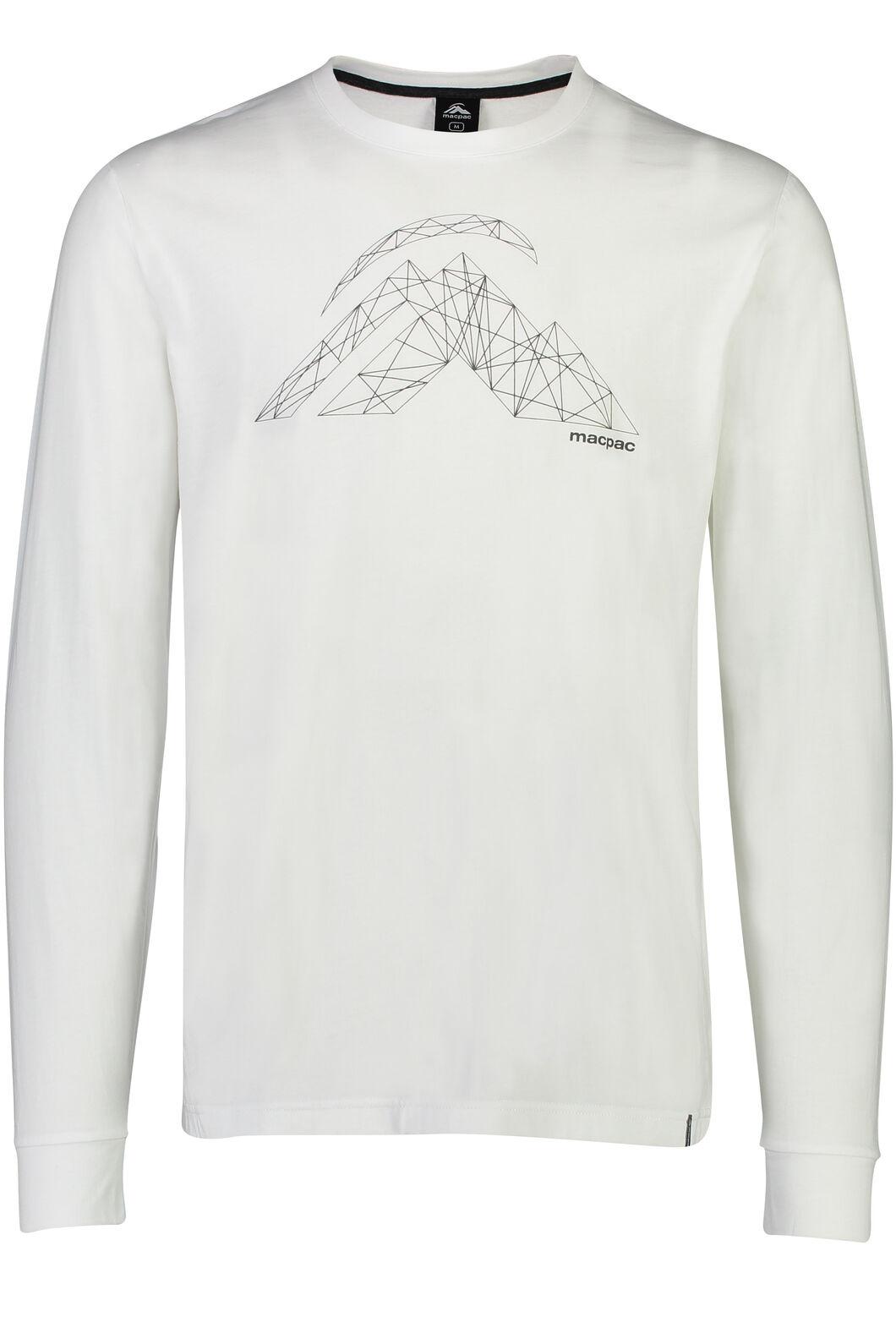 String Logo Long Sleeve Tee - Men's, White, hi-res