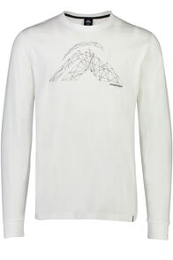 String Logo Long Sleeve Tee - Men's, White, hi-res