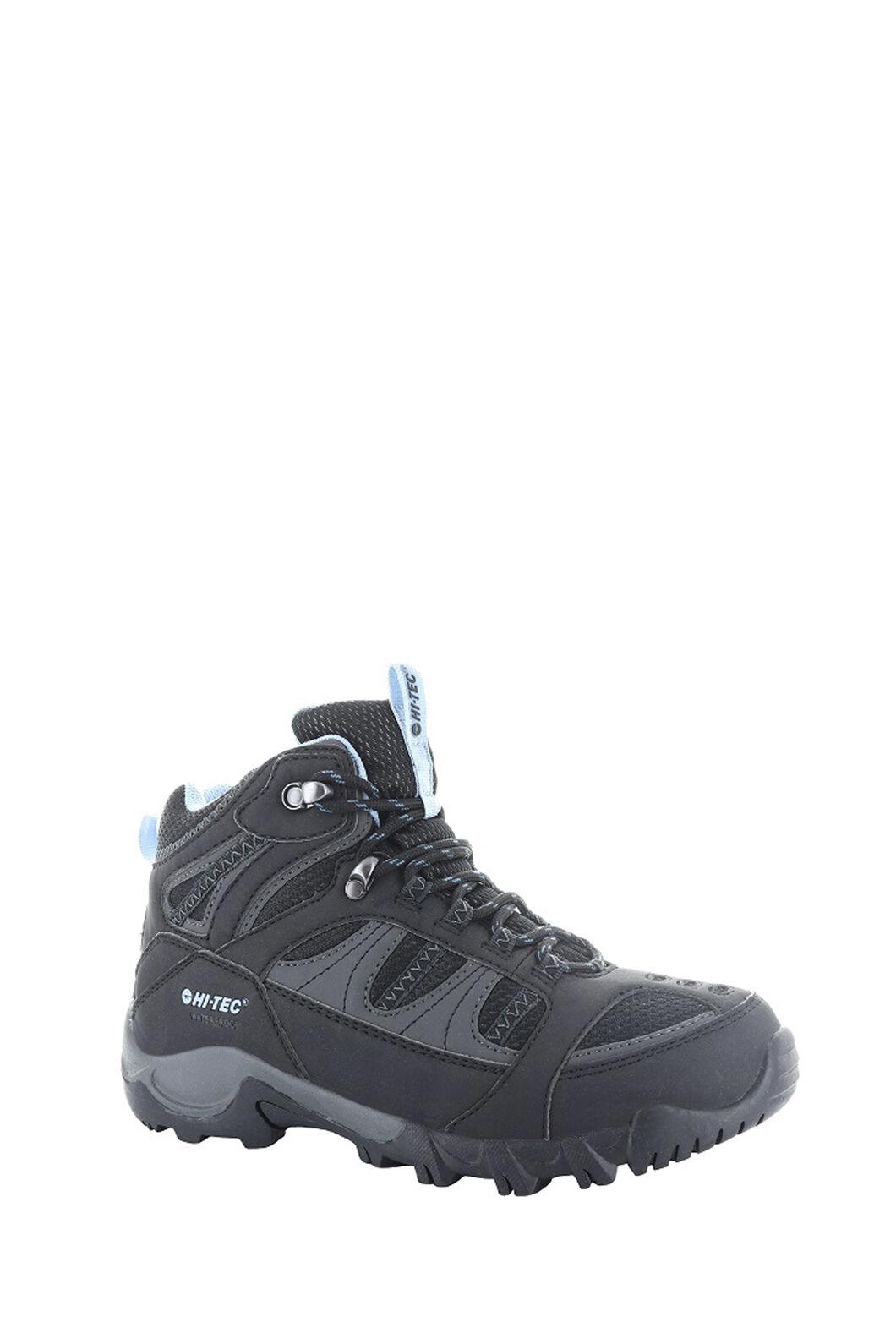Hi-Tec Bryce II Mid WP Boots — Women's, Black/Charcoal/Forget Me Not, hi-res