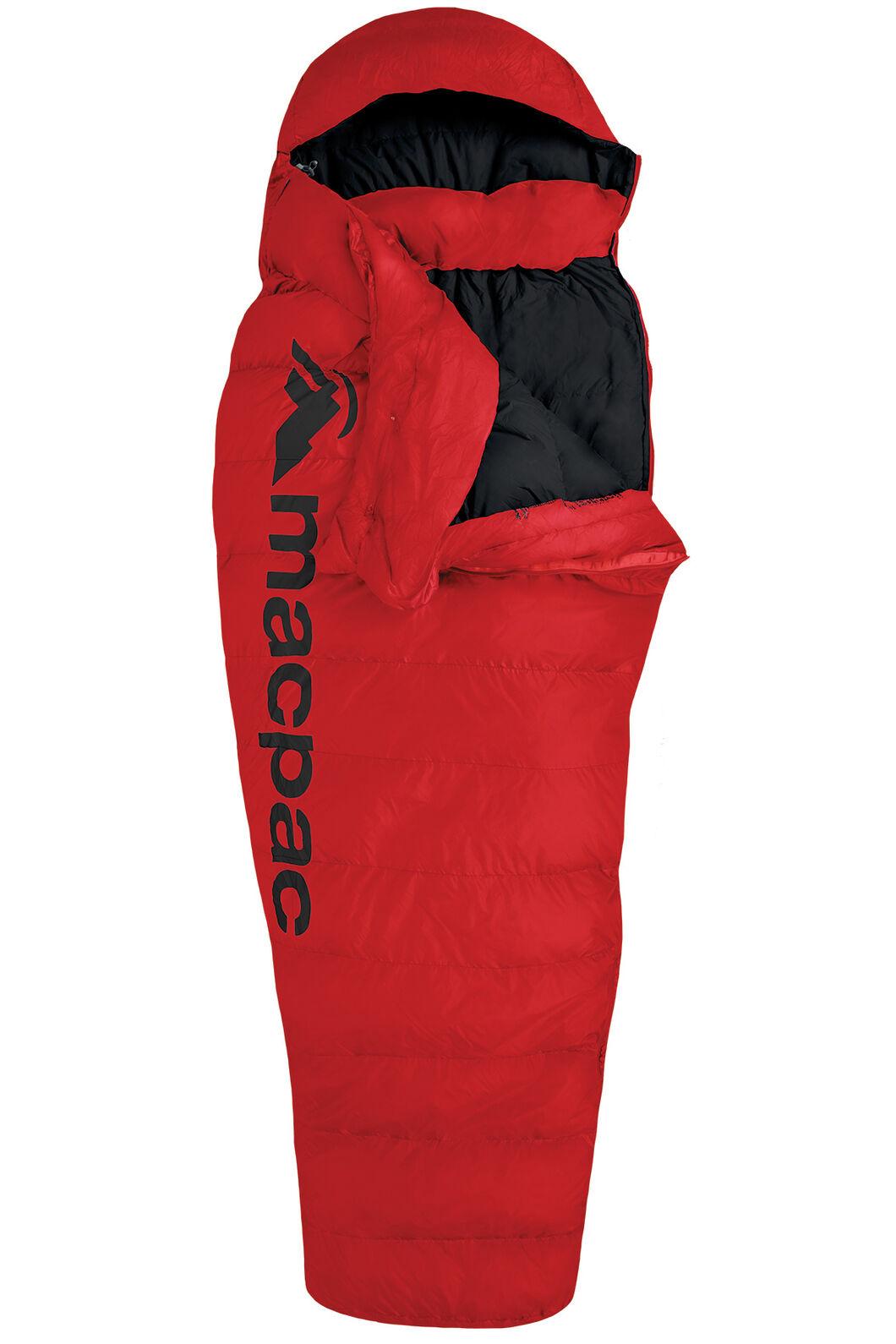 Macpac Overland Down 400 Sleeping Bag — Standard, Flame Scarlet, hi-res