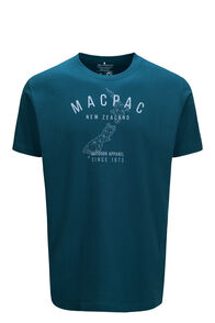 Macpac Men's Outdoor Apparel Fairtrade Organic Cotton Tee, Reflecting Pond, hi-res