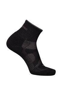 Macpac Merino Quarter Socks, Black, hi-res