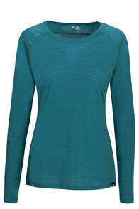 Macpac Meadow 145 Merino Blend Long Sleeve Tee — Women's, Hydro, hi-res