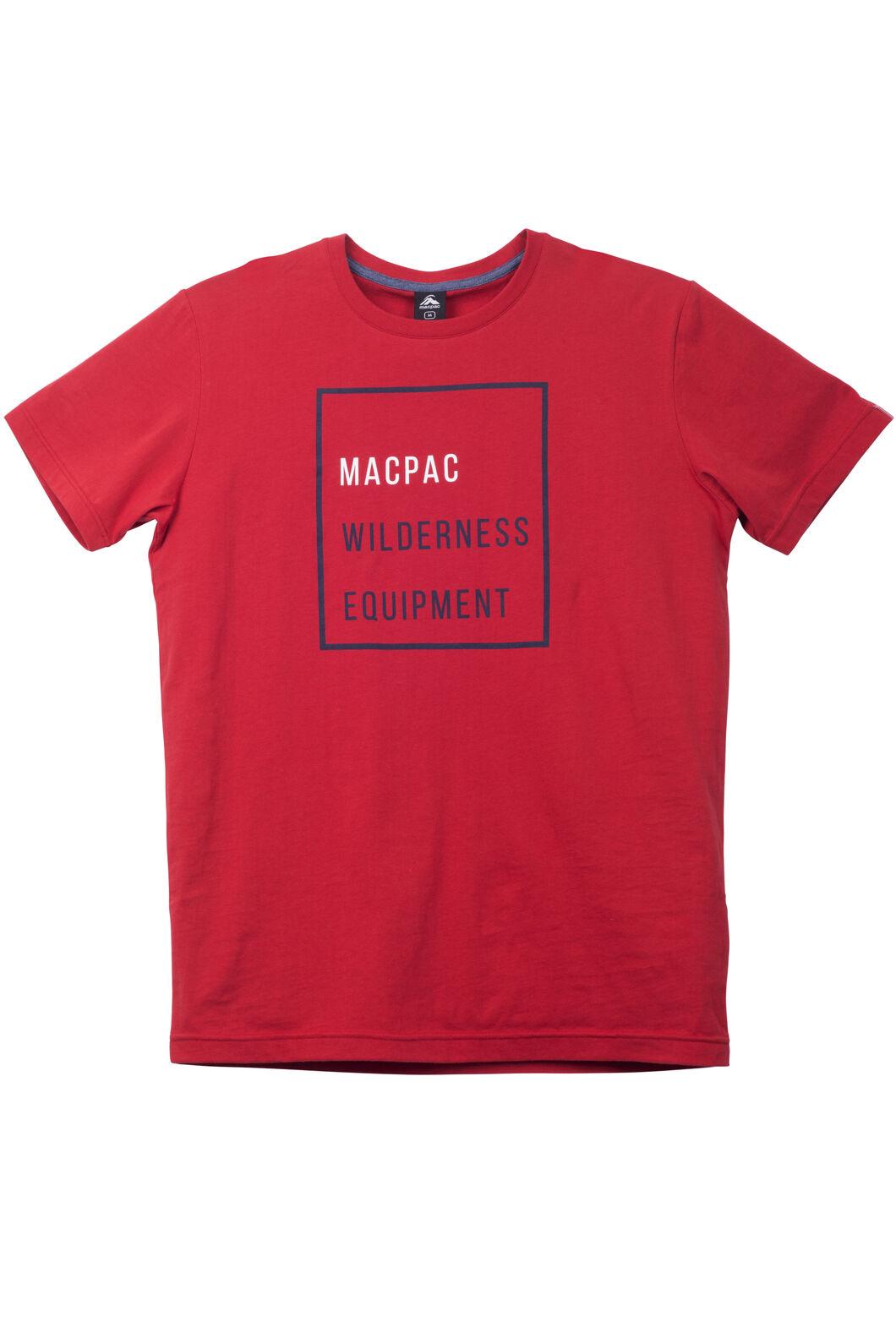Macpac MWE Organic Cotton Tee - Men's, Pompeian, hi-res