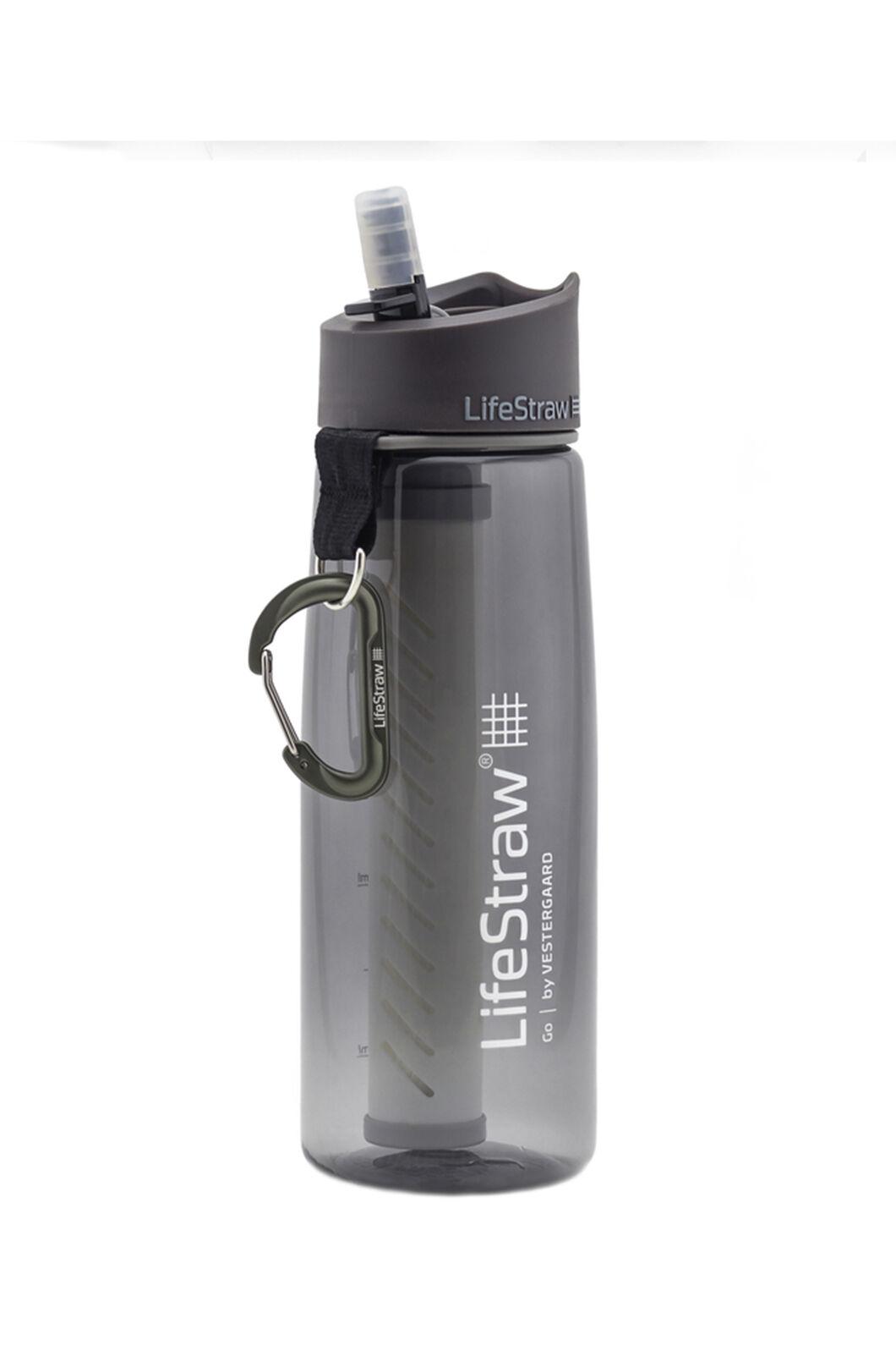LifeStraw Go 2-Stage Filtration Water Bottle, Grey, hi-res