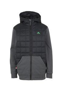 Macpac Campfire Primaloft® Hybrid Jacket - Kids', Black/Asphalt, hi-res