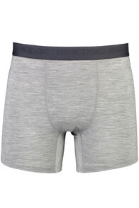 Men's 180 Merino Boxers, Grey Marle/Black, hi-res