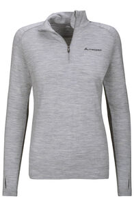Macpac Kauri 280 Merino Pullover — Women's, Light Grey Marle, hi-res