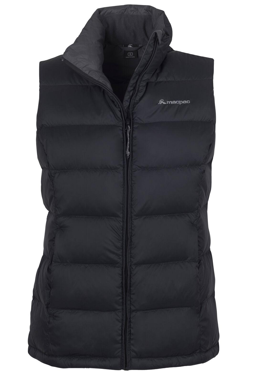 Macpac Women's Halo Down Vest, Black, hi-res