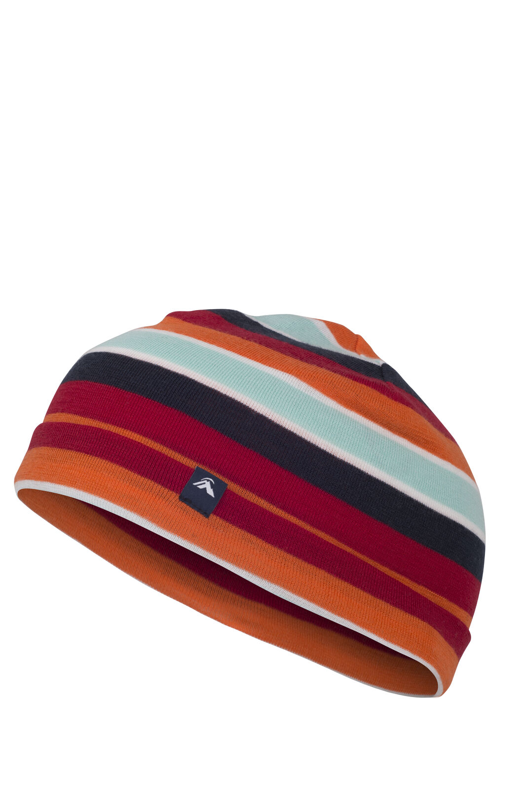 Macpac Merino 220 Beanie Kids', Orange Stripe, hi-res