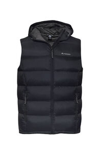 Macpac Halo Hooded Down Vest — Men's, Black, hi-res