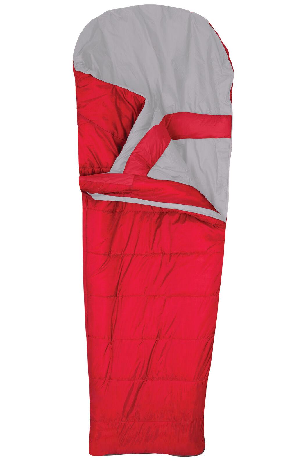 Macpac Roam 150 VapourLite™ Kids' Synthetic Sleeping Bag, Crimson, hi-res