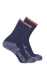 Macpac Thermal Socks 2 Pack, Black Iris/Black Iris, hi-res