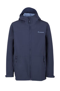 Macpac Sabre Hooded Jacket - Kids', Black Iris/Riviera, hi-res