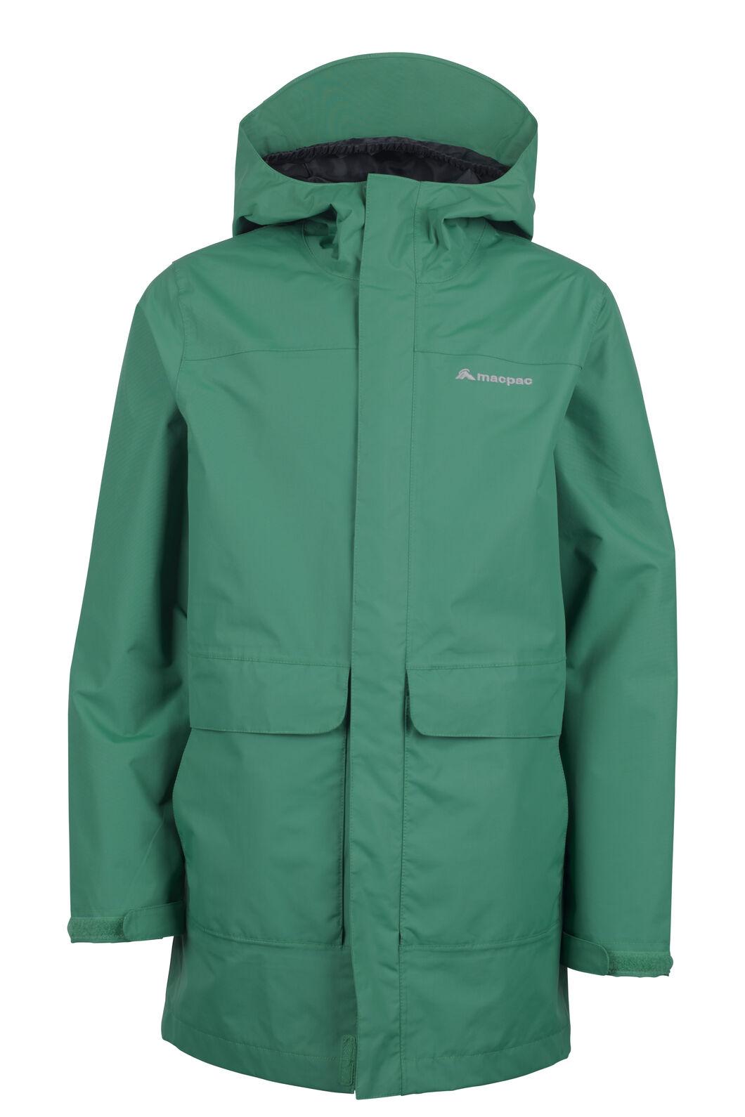 Macpac Lagoon Long Rain Jacket - Kids', Ultramarine, hi-res