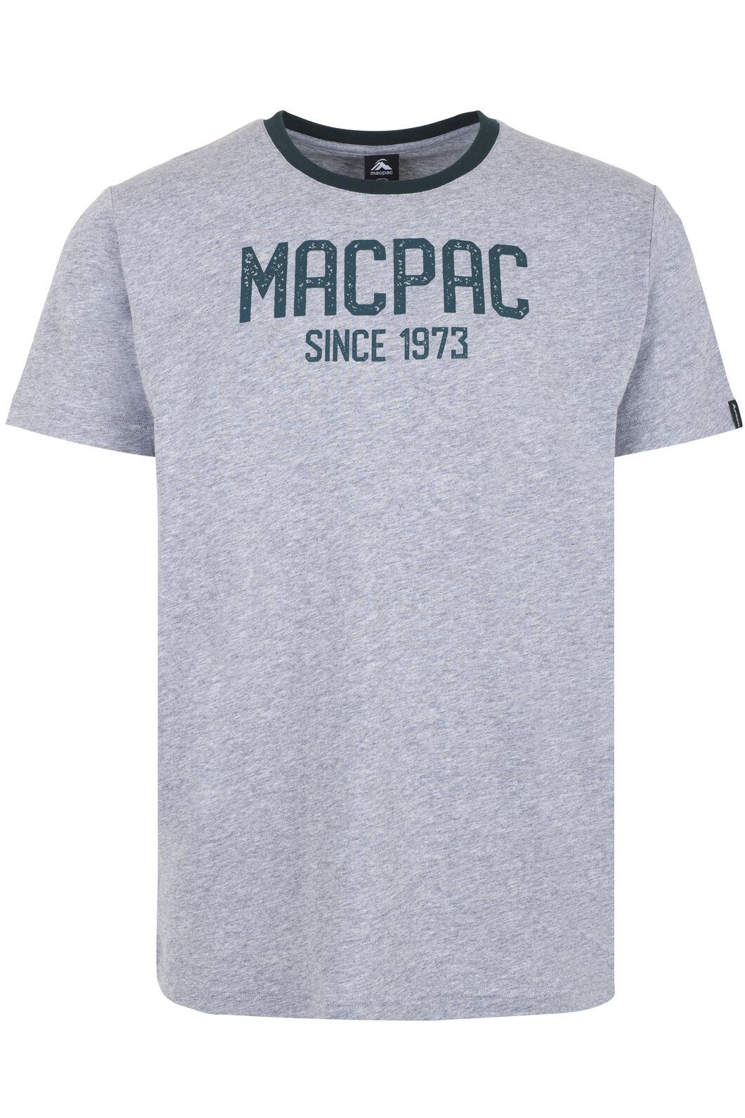Macpac Freshman Organic Cotton Tee - Men's, Mid Grey Marle/Ponderosa, hi-res