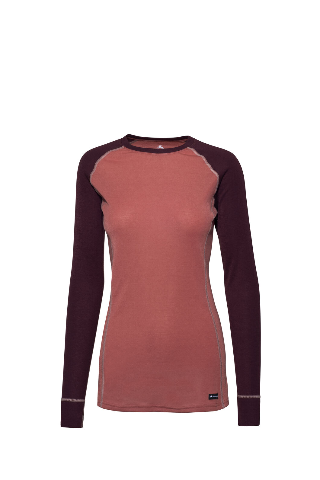 Macpac Geothermal Long Sleeve Top — Women's, Vineyard Wine/Dusty Cedar, hi-res