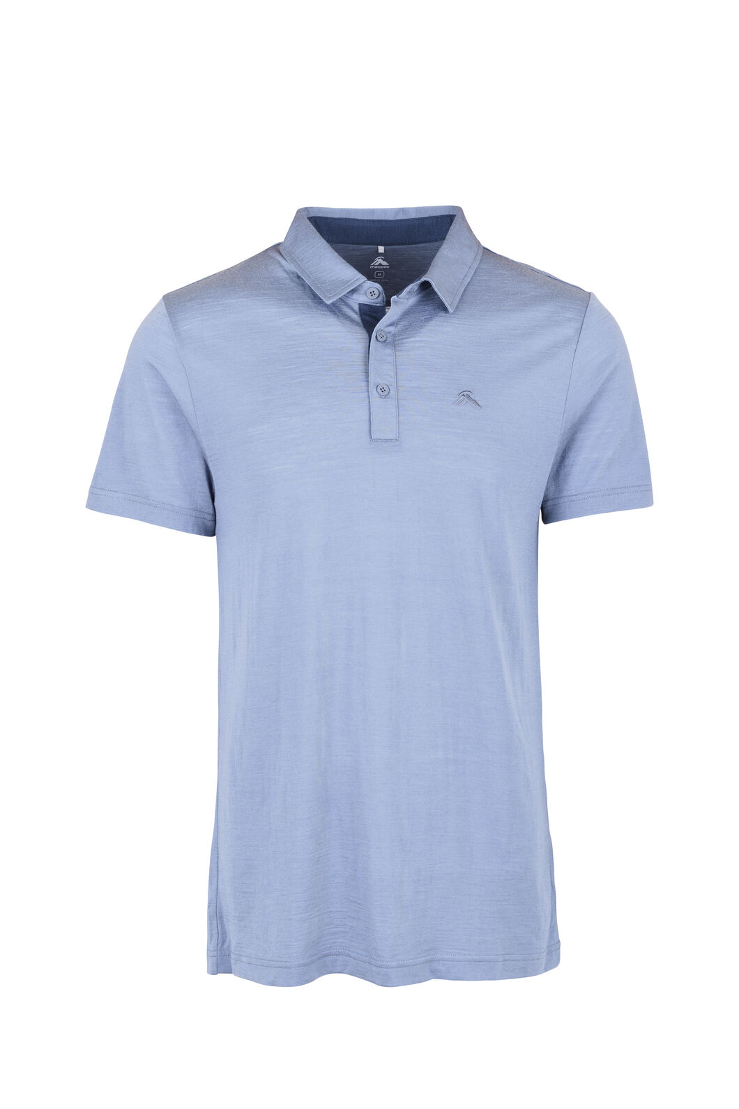 Macpac Merino Blend Polo — Men's, Flint Stone, hi-res