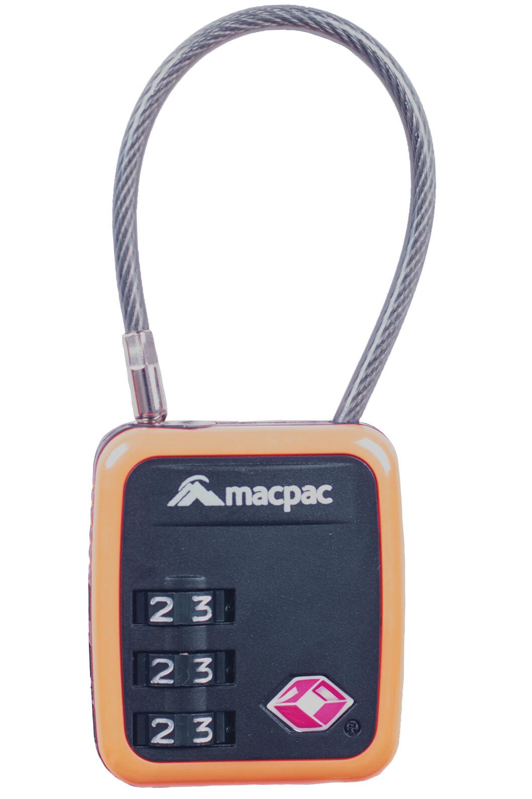 Macpac TSA 3 Dial Com Lock, Orange, hi-res
