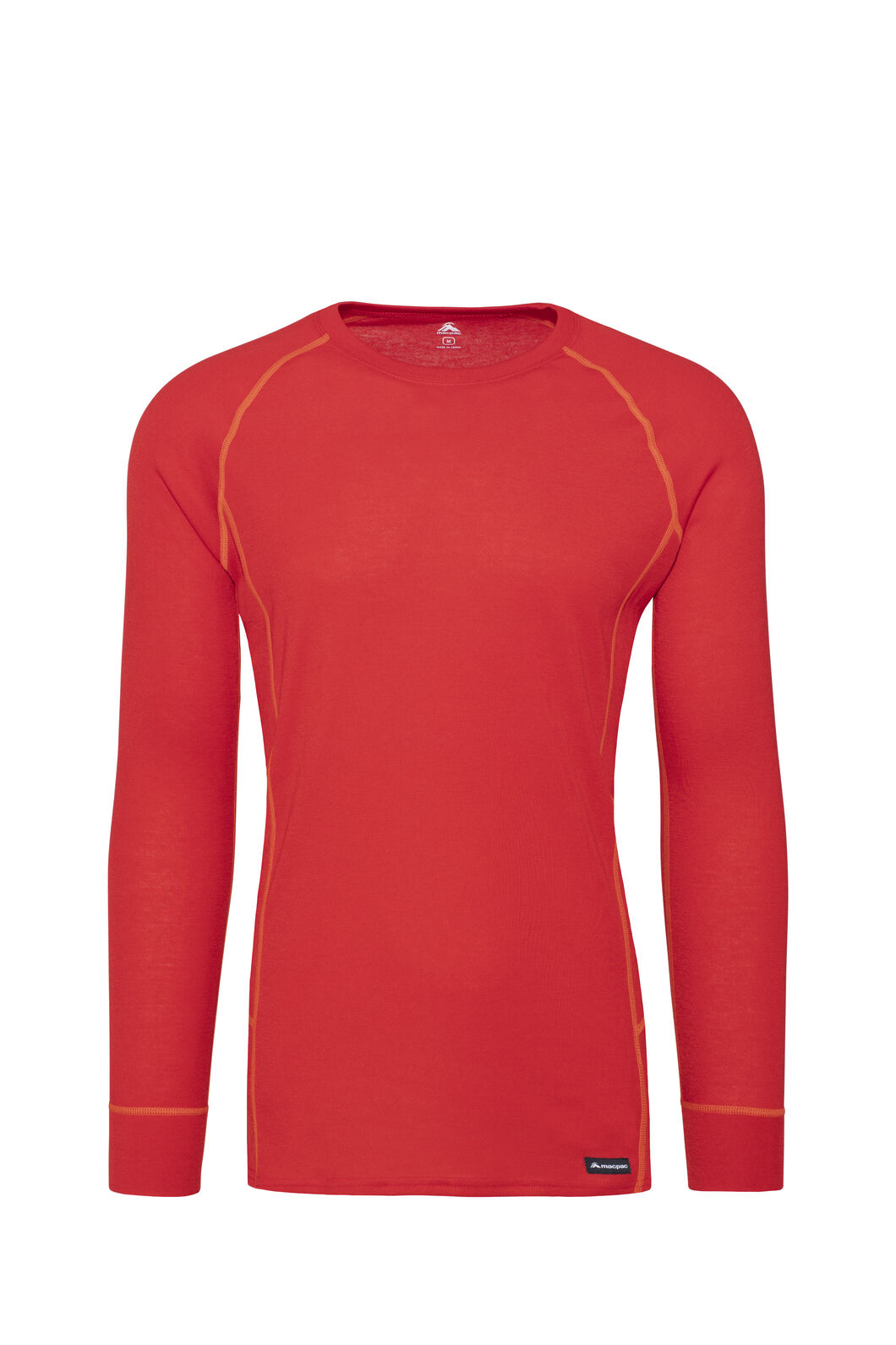 Macpac Geothermal Long Sleeve Top — Men's, Salsa, hi-res