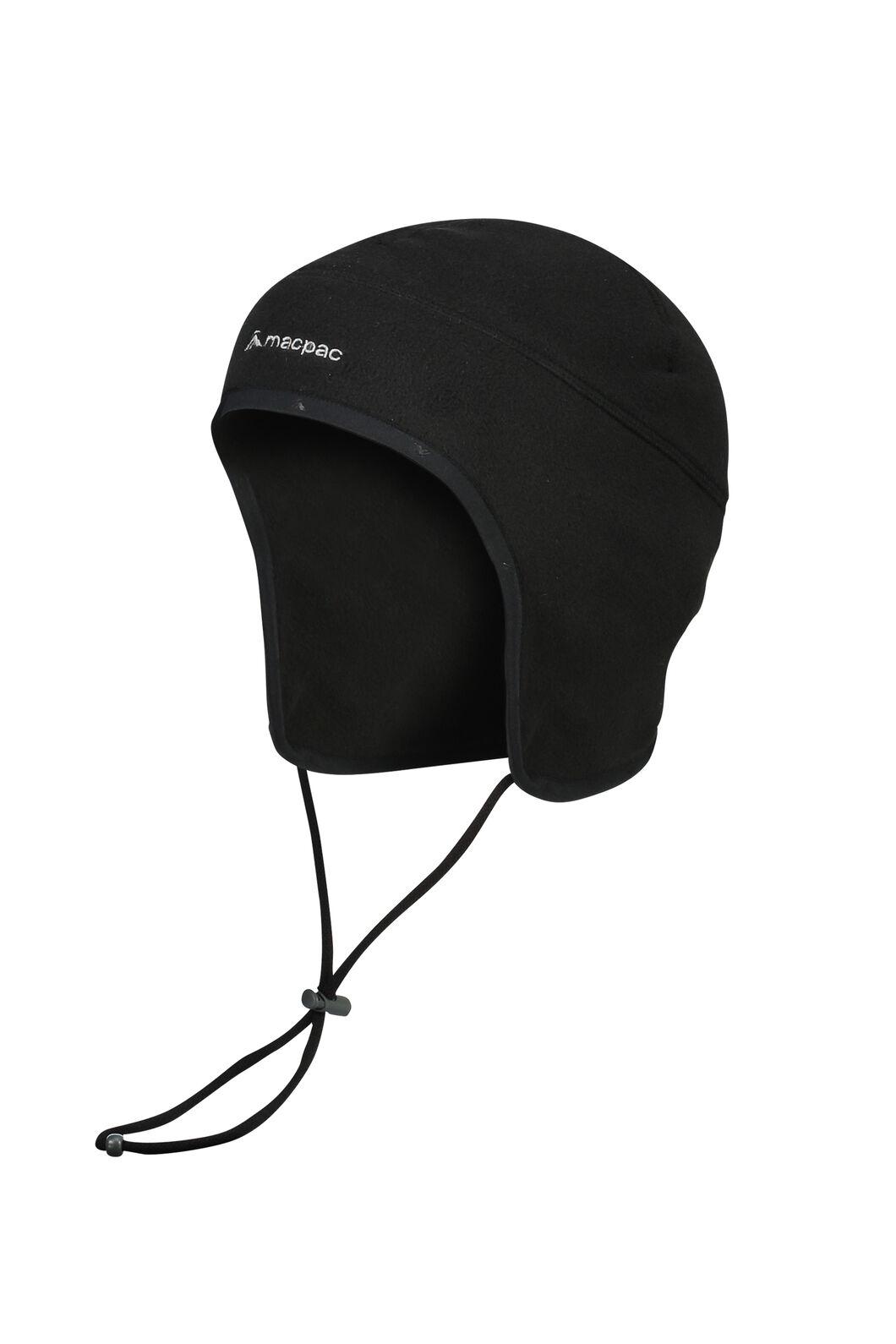 Macpac Earhed Fleece Beanie V2, Black, hi-res