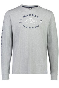 Macpac Long Sleeve Tee - Men's, Mid Grey Marle, hi-res