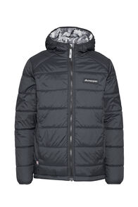 Macpac Pulsar Alpha PrimaLoft® Hooded Jacket — Kids', Black/Black Print, hi-res