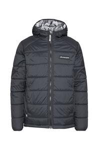 Macpac Kids' Pulsar Alpha PrimaLoft® Hooded Jacket, Black/Black Print, hi-res