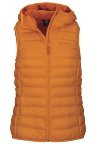 Macpac Uber Light Hooded Down Vest — Women's, Cadmium Yellow, hi-res