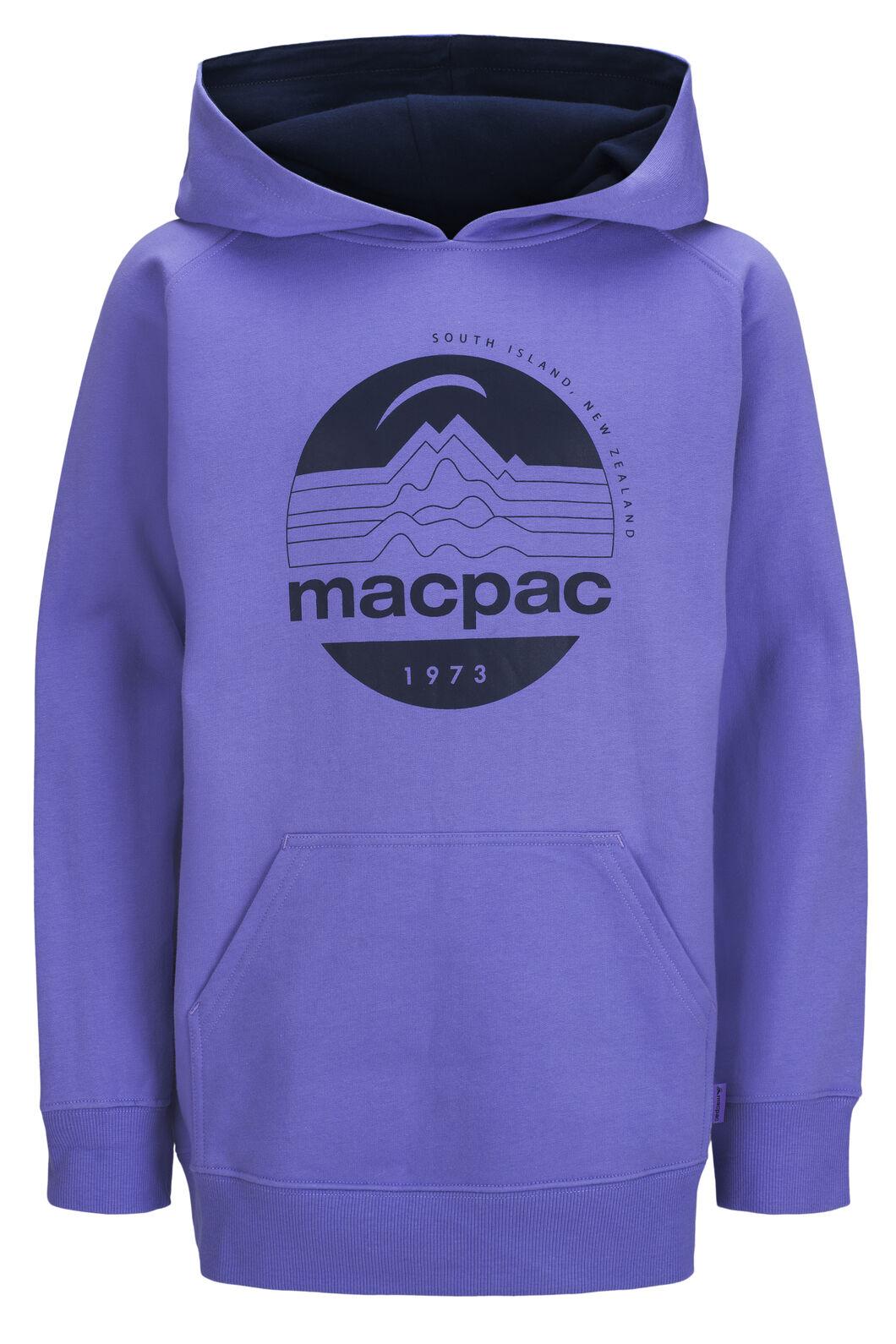 Macpac Kids' Fairtrade Organic Cotton Pullover Hoody, Aster Purple, hi-res