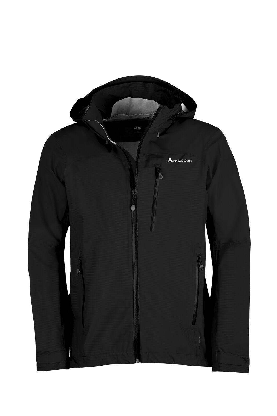 Macpac Traverse Pertex® Rain Jacket - Men's, Black, hi-res