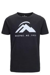 Macpac Kids' Mountain Fairtrade Organic Cotton Tee, Black, hi-res