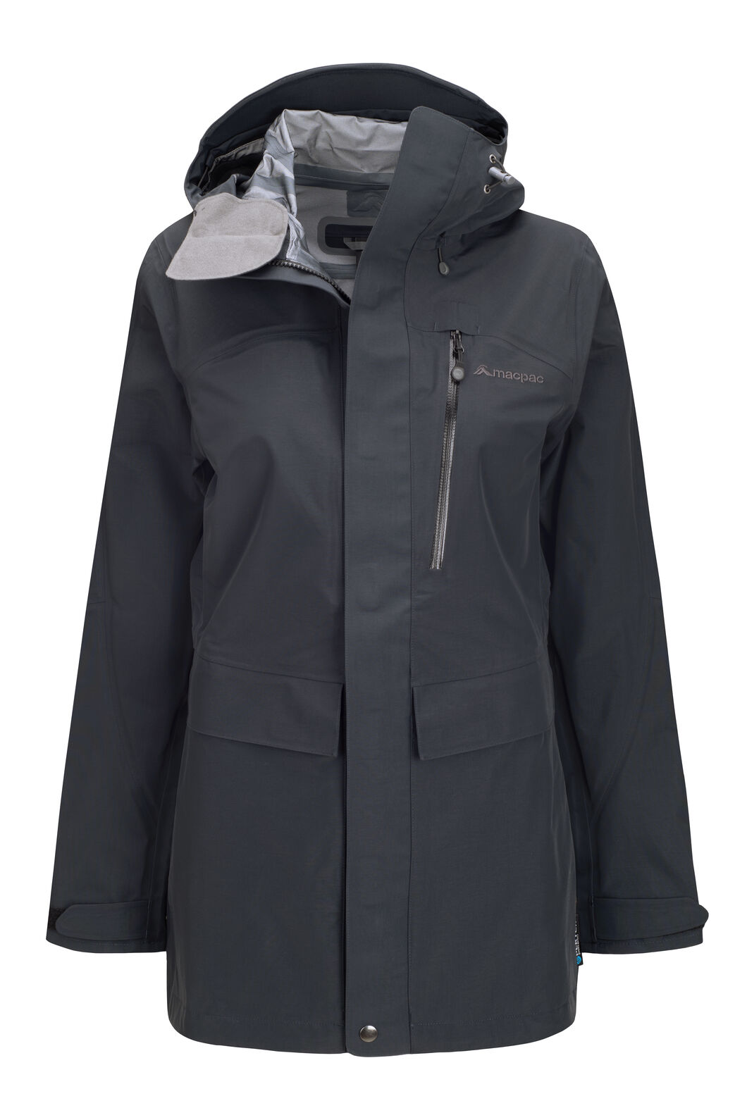 Macpac Women's Resolution Pertex® Rain Jacket, Black, hi-res