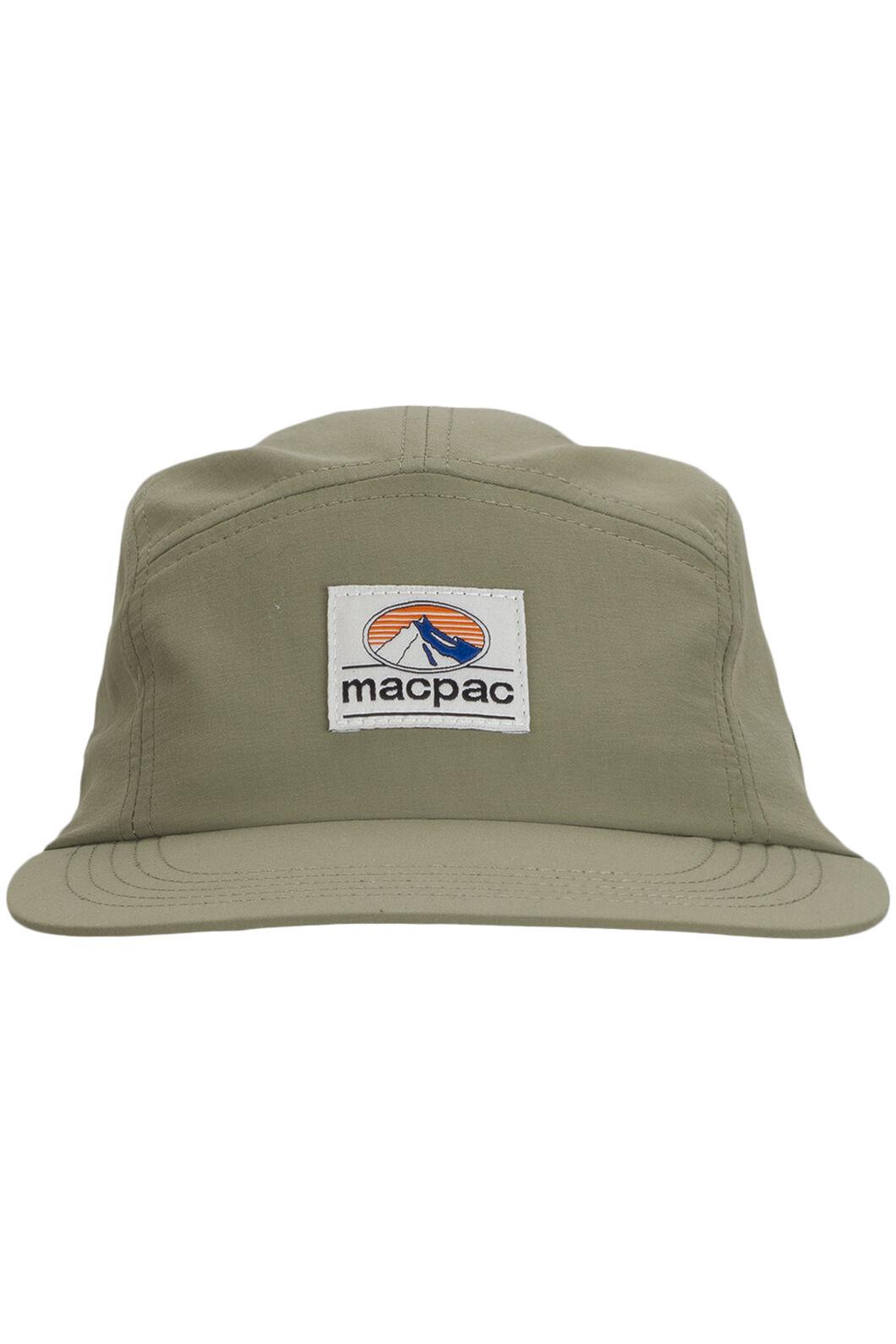 Macpac Winger 5-Panel Cap, Deep Lichen Green, hi-res