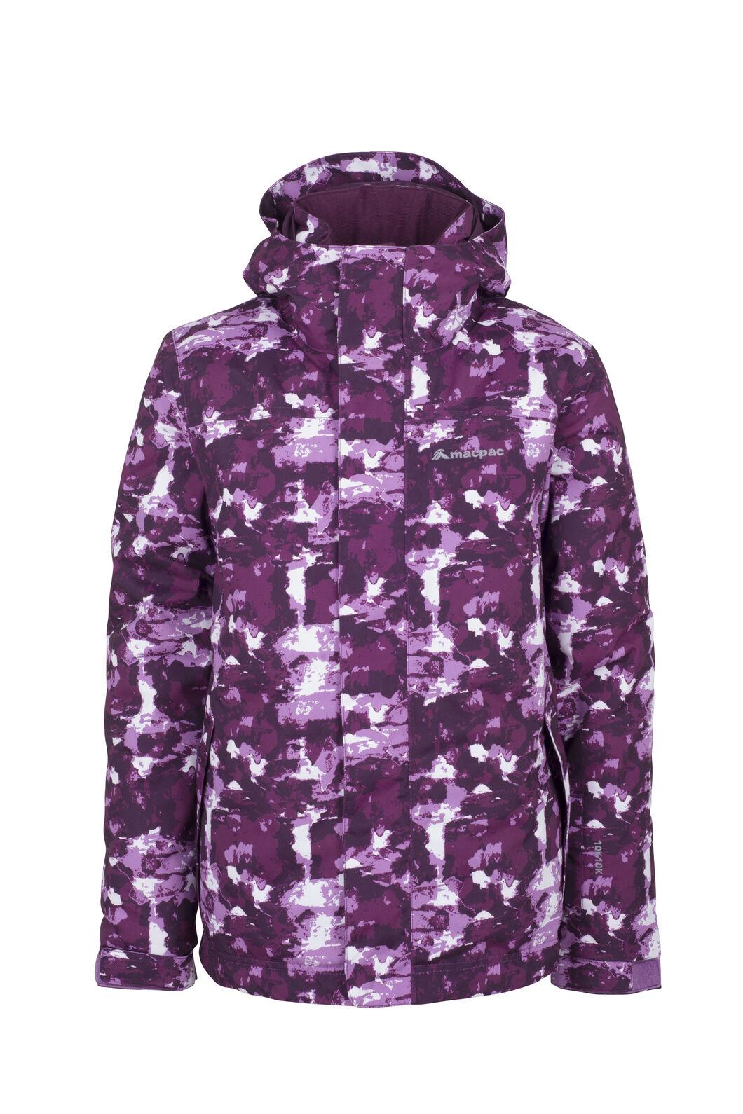 Macpac Spree Ski Jacket - Kids', Purple Print, hi-res