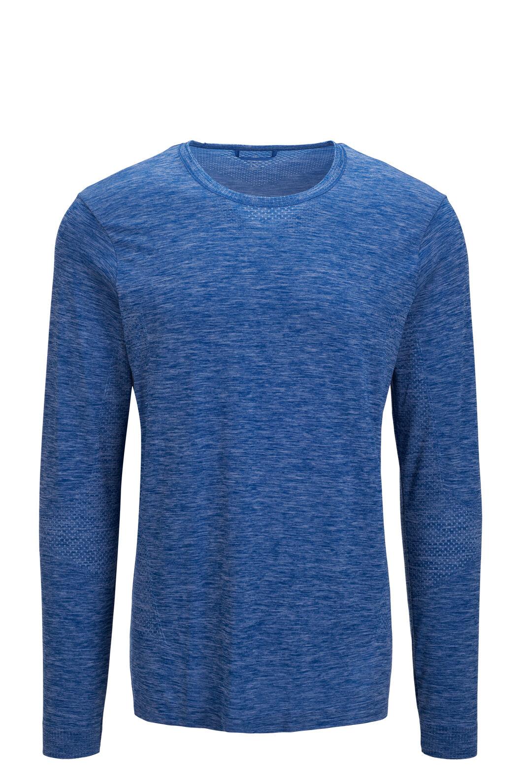 Macpac Men's Limitless Long Sleeve Tee, Classic Blue, hi-res