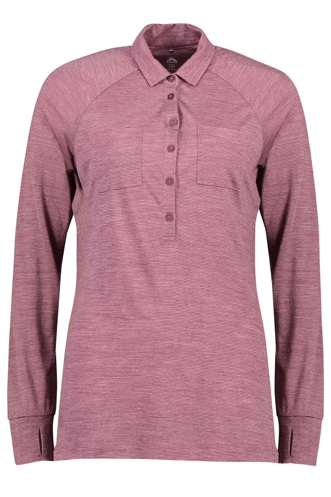 Macpac Rove Merino Blend Long Sleeve - Women's, Fig Stripe, hi-res