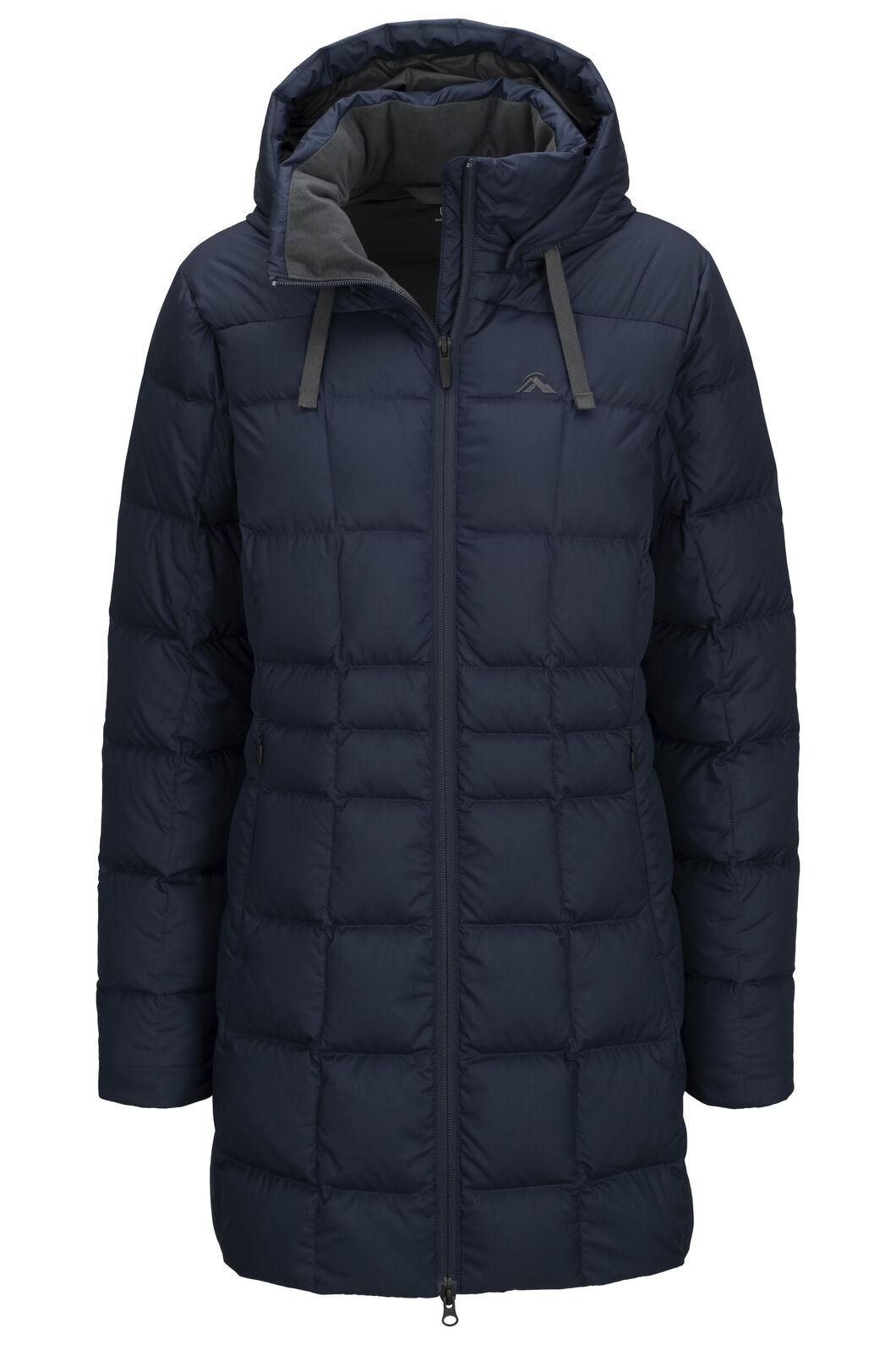 Macpac Aurora Hooded Down Coat — Women's, Carbon, hi-res