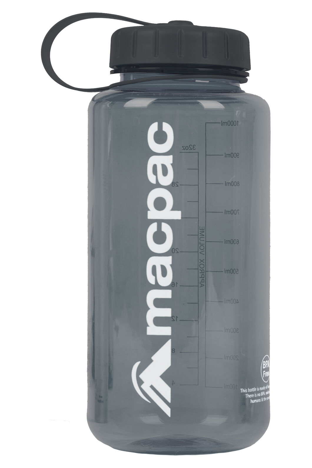 Macpac Water Bottle — 1L, Grey, hi-res