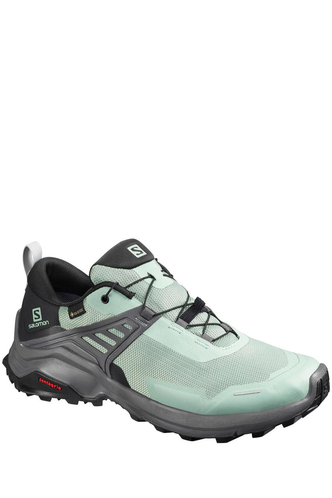 Salomon X Raise GTX Hiking Shoes — Women's, Green/Black/Magnet, hi-res