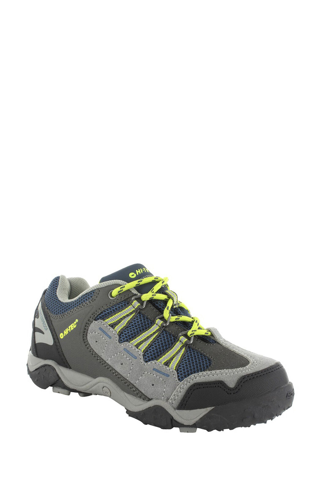 Hi-Tec Forza Low WP Shoes — Kids', Cool Grey/Majolica/Limoncello, hi-res