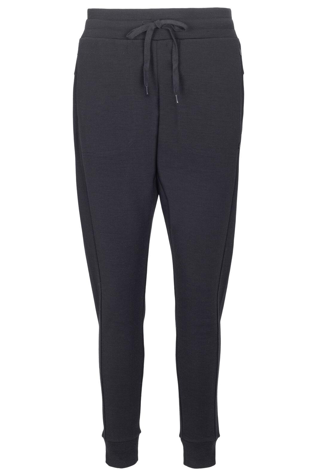 Macpac Women's Merino Blend Track Pants, Black, hi-res