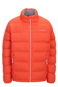 Macpac Atom Down Jacket — Kids', Living Coral, hi-res