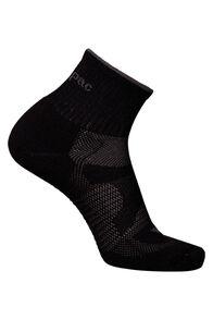 Macpac Merino Quarter Sock, Black/Black, hi-res