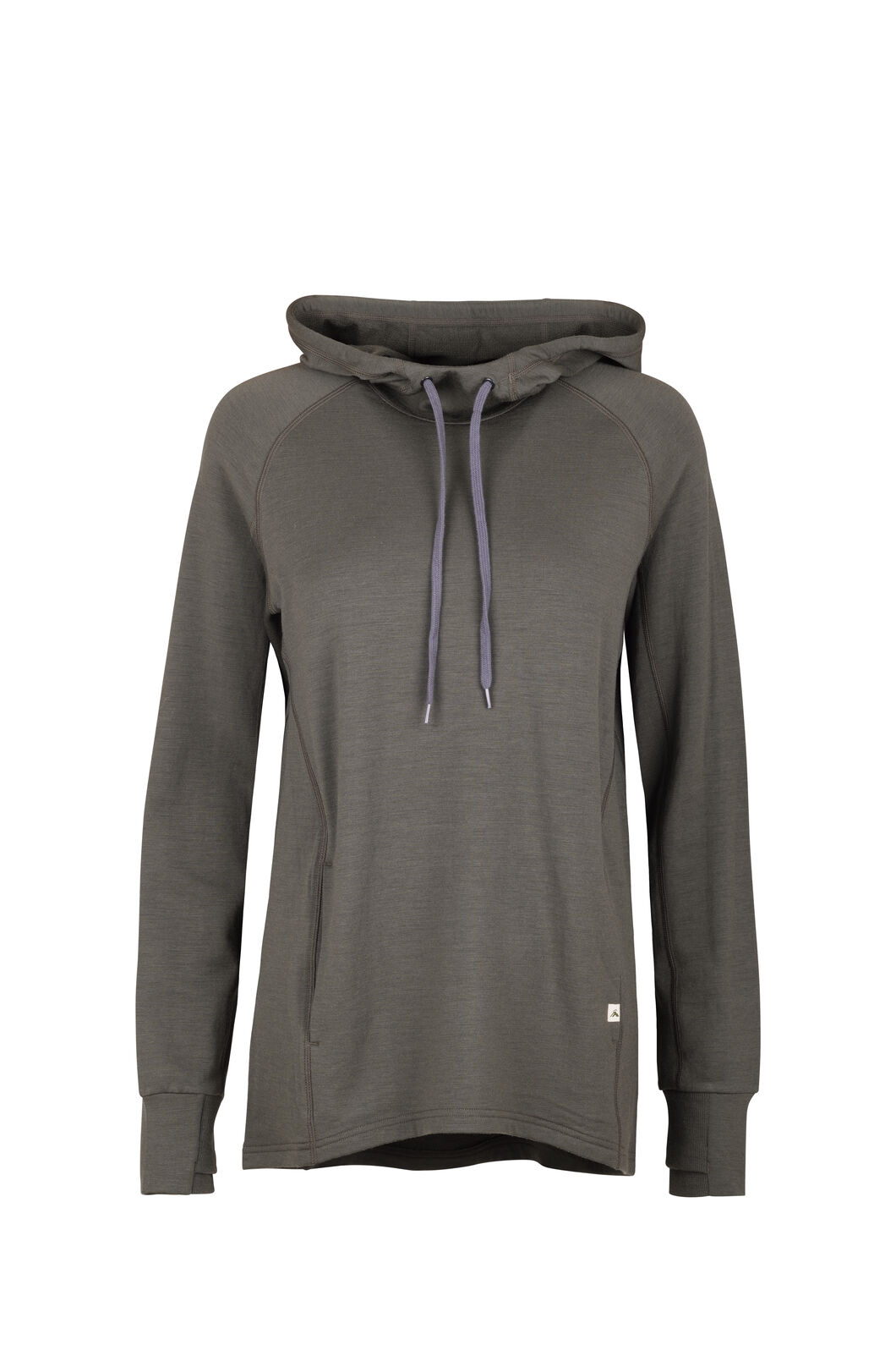 Macpac Lucille Merino Hooded Pullover — Women's, Grape Leaf, hi-res