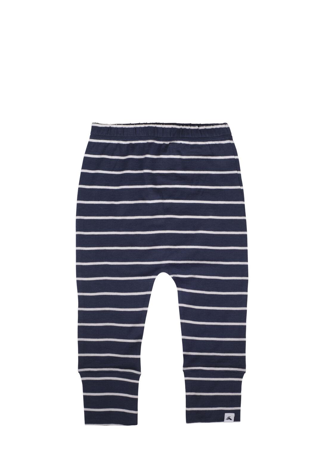 Macpac 150 Merino Long Johns - Baby, Navy Stripe, hi-res