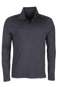 Kauri 280 Merino Pullover - Men's, Charcoal Marle, hi-res